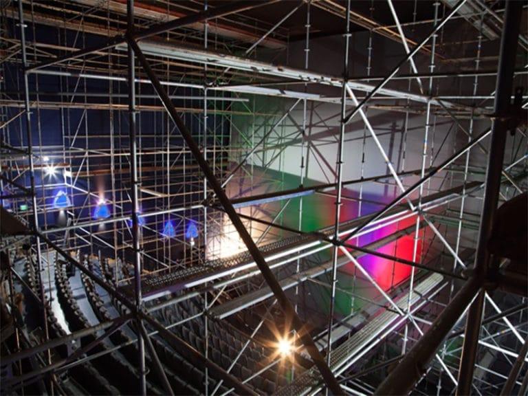 Raumgerüst im Cinespace Bremen