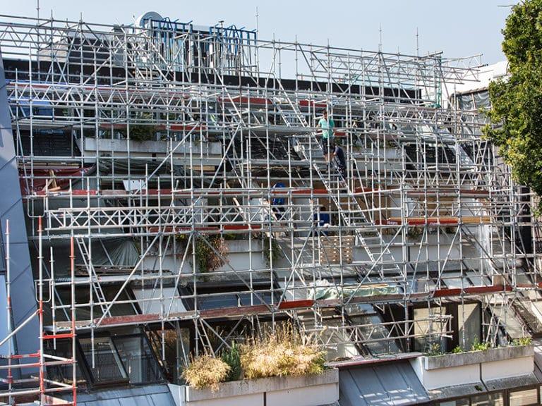 Sondergerüstbau, Schrägfassade in Oldenburg